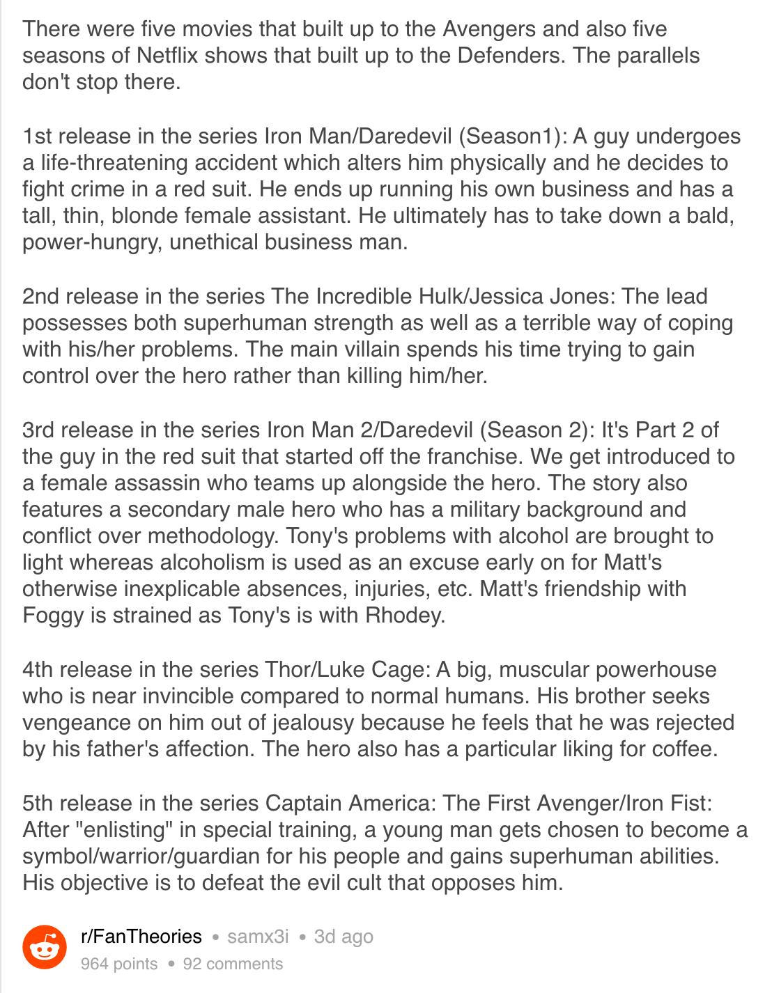 Do Marvels Netflix superhero series share a secret symmetry with the main movies?